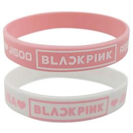 Corea popolare rosa colore bianco Super Star BLACKPINK Army Beacelet KPopular Sport Pulseras per le donne uomini da