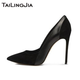 мягкие каблуки Скидка Faux Suede Mixed Soft Pu Leather  Women Pumps Woman Shoes High Heel Ladies Blue Pointed Toe Pumps High Quality Handmade Hot