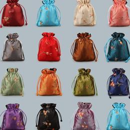 envoltura de dulces de boda gratis Rebajas Nuevo tubo recto chino tirar de la cuerda bolsa bolsita de regalo de boda embalaje colección de joyas bolsa de regalo bolsa de embalaje T2C5019
