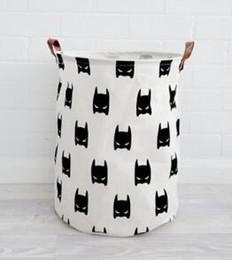 cajas de lunares Rebajas Cajas de almacenamiento Cestas Sala de niños Juguetes Bolsas de almacenamiento Cubo Ropa Organizador Bolsa de lavandería Organizador de lona Batman Polka Dot Lavandería Conejo