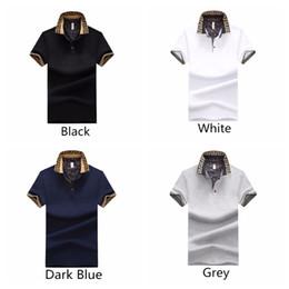 T-shirt uomo casual estate estiva girocollo colletto button manica corta Camicia in cotone Outdoor Wear 4 colori cheap male t shirts da magliette maschili fornitori