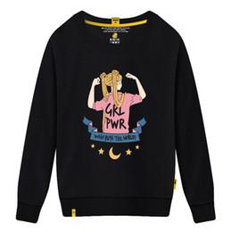 Neue Marke Frauen Pullover Rundhals Kragen mit schönen Mädchen Print Sweatshirts für Frauen kausal lose Designer Hoodies Langarm Baumwolle von Fabrikanten