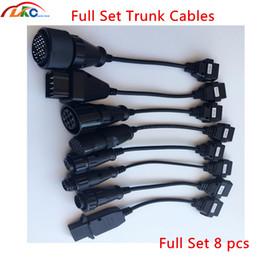 2020 diagnóstico de camión multidiag conjunto de 8 cables llenos de camiones de más MVD OBDII cables vd TCS cdp pro / pro / Multidiag diagnóstico del carro de herramientas para Rusia stock rebajas diagnóstico de camión multidiag