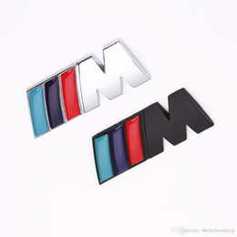 2019 logo 3d de bmw 1 pc / lot autocollants de badge de décoration automatique de voiture fraîche de voiture logo M en métal 3D autocollant de voiture pour BMW M3 M5 X1 X3 X5 X6 E36 E39 E46 E30 E60 E92 promotion logo 3d de bmw