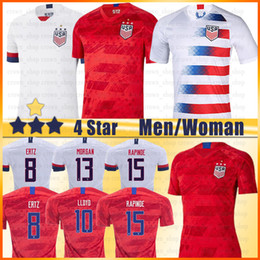 Camisas de futebol de qualidade eua on-line-Personalizado América Futebol LLOYD KRIEGER MORGAN RAIPINOE Pulisic Tailândia alta qualidade Homens kids EUA Futebol Weah