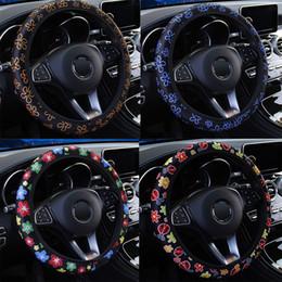 câble assy Promotion LEEPEE Antidérapant Car Styling Accessoires intérieurs Fleurs élastiques Caches directionnels universels