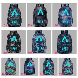 glow dark games Coupons - 19 Style Apex legends backpack Glowing Dark Respawn day pack New hero school bag Game packsack Luminous Storage Sport Outdoor bags TC190304