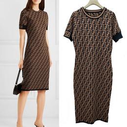 si adatta a abiti Sconti Abito da donna di marca abiti di alta qualità intera lettera FF maglione lavorato a maglia abito di lusso donne Lady Slim Fit Abiti
