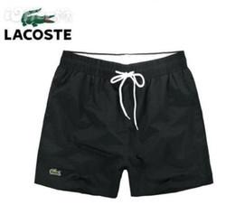 Maiôs de quadril on-line-LacosteFree grátis Atacado-Quick Dry Mens Praia Shorts Marcas Mens Shorts Casual Swimwear Maiôs Shorts Masculinos Hip Hop Mens Be
