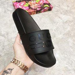 (AVEC LA BOÎTE) Designer rose G Slide Beach Designer Pantoufles Femmes Hommes Sandales Fille De Luxe Chaussures Casual NOIR Mode Diapositives Flip Flops Slipper ? partir de fabricateur
