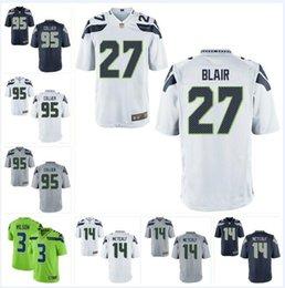 2019 remiendos al por mayor de la camisa del niño # 95 L.J. Collier Seahawks Jersey 14 DK Metcalf Marquise Blair Russell Wilson FAN 12s Cody Barton camisetas personalizadas de fútbol americano Púrpura 4xl