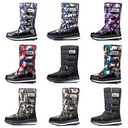 2019 muslo bota alta 46 diseño de lujo, mujeres, hombres botas sobre la rodilla del muslo para hombre de botas de invierno de nieve impermeables botines de plataforma 36-46 envío de la gota muslo bota alta 46 baratos