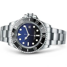 blue bezel Promo Codes - 2019 Mens Watch Deep Ceramic Bezel SEA-Dweller Sapphire Cystal Stainless Steel With Glide Lock Clasp Automatic Mechanical mens Watches