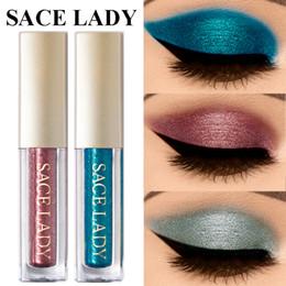 2019 pacotes de maquiagem por atacado Glitter Highlighter Brilho Sombra de Metal À Prova D 'Água Líquido Maquiagem Dos Olhos Ouro Pigmento Shimmer Pigmento Líquido Sombra de Olho Paleta Cosméticos
