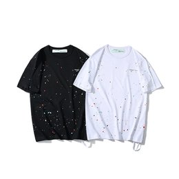 be567b903f6 1988 New Summer Money Tide Card Colour Starry Sky Splash Ink All Over The  Body Printing Easy Short Sleeve Men And Women Lovers T T-shirt T