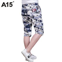venta al por mayor niños pantalones cortos de camuflaje Rebajas Venta al por mayor Big Boys Pants Summer 2017 Casual Short Kids Boy Pants Boy Ropa Sport Camouflage Teens Pantalones de moda 6 8 10 12 14
