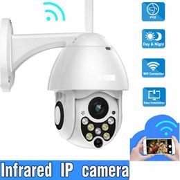 Câmeras de segurança ao ar livre ptz on-line-À prova d'água ao ar livre WiFi PTZ Pan Tilt 1080P HD Segurança IP IR Camera Night Vision
