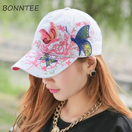 d33a62be192 Women Cap New Embroidery Floral Colorful Sun Shading Baseball Caps Womens  Fashion Korean Style Casual Chic Daily Outdoor Trendy