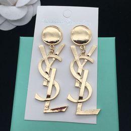 Nuovi orecchini del progettista di marca di lusso YS lettere orecchino della vite prigioniera dell'orecchino dei monili oro argento oro donne regalo di nozze spedizione gratuita da