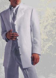 uomini del vestito da cerimonia nuziale di stile del tuxedo Sconti Nuovo stile Five Buttons Smoking dello sposo bianco Blazer uomo Prom Dress Suit Abiti da sposa (Jacket + Pants + Vest)