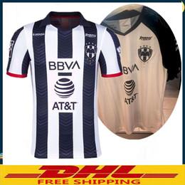 Thai jerseys dhl shipping онлайн-DHL Бесплатная доставка тайский 2019 2020 трикотажные изделия футбола Monterrey 19 20 футболки футбола Monterey Размер можно смешать партия