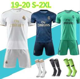 Patch di leghe online-nuova maglia da calcio Real Madrid 2019 Kroos Sergio Ramos 19/20 REAL MADRID Champions League PATCHES maglia da calcio uniforme
