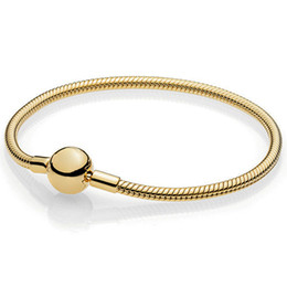 kreisförmiges armband Rabatt Luxus schmuck 925 sterling silber neue klassische rund gold armband grundlegende schlange knochen kette für anhänger diy perlenarmband frauen geschenk