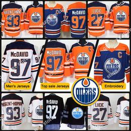 2019 logo milan 2018 Neues Herren-Trikot 97 Connor McDavid 93 Ryan Nugent-Hopkins 99 Wayne Gretzky 27 Milan Lucic-Stickerei Logos Eishockey-Trikots günstig logo milan
