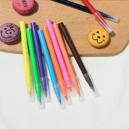 Farbstifte online-Essbare Pigment Stift 5 ml DIY Lebensmittelfarbe Stifte Keks Fondant Kuchen Schreiben Malerei Pinsel Kuchen Dekorieren Tool EEA335
