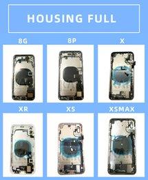 iphone 5c capa da habitação traseira Desconto iPhone Para 20pcs DHL 8 8G 8P 8plus X XS XR XSMAX 11 completa Assembléia tampa da caixa da bateria porta traseira com Flex Cable buzzer Mix frete grátis