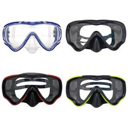 c2be15833 Crianças máscara de mergulho snorkel HD grande quadro óculos de proteção  Wide Vision esportes de natação óculos de treinamento de natação  equipamentos ...