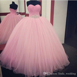 2019 adorável bebê rosa quinceanera dress princesa puffy vestido de baile doce 16 idades long girls prom partido pageant vestido plus size custom made de