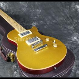 2019 chitarre doganali 2019 New Standard Gold Top Chitarra elettrica Nuovo design tastiera in acero Can Thru Customs corpo in mogano chitarre doganali economici