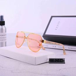 Designer de óculos de sol de luxo óculos de sol moda elegante de alta qualidade polarizada para homens mulheres de vidro UV400 6 estilo pouco abelhas logotipo com caixa de