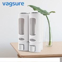 2019 chumbo líquido Visível ABS Wall Mounted dispensador de sabão líquido de alta qualidade 400ML Uma garrafa de detergente Shampoo Dispenser Acessórios para Banheiro