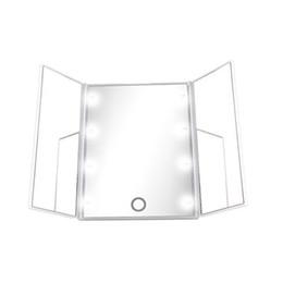Canada Miroir de maquillage à 8 LEDs Écran tactile pour maquillage 3 plans de travail portables réglables comptoir de table maquillage miroir Offre