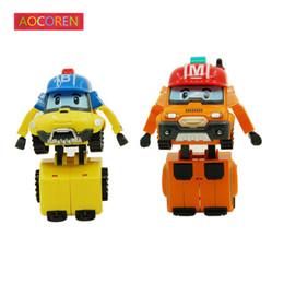 Robocar poli toys online-Aocoren Robocar Poli Robot Toy Korea Poli Robocar Bucky Marca Transformación Juguetes Figuras de acción de Anime Niños Juguetes Regalos 2 unids / set