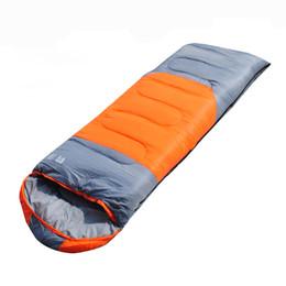 Canada Sac de couchage en gros bon marché pour adultes, sacs de couchage imperméables portables 4 saisons pour le camping, la randonnée, les voyages (Blue Orange) Offre