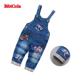 67735521d good quality autumn children girl pants infant denim overalls clothes baby  costume kids denim jumpsuit bib cotton denim trousers