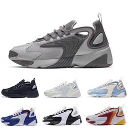 new product 1ccca 775d0 2019 Zoom 2K M2K Tekno 2000 Sail Blanc-Noir Gris Foncé pour chaussures de  course à pied pour hommes, chaussures de sport air zoom pas cher