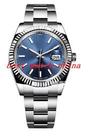 Safira azul oval on-line-Relógio dos homens 41mm 116234 116610 disco azul de Luxo Melhor Qualidade Sapphire Automático dos homens Assista Assista