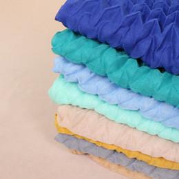 Velo lungo pianura online-Foulard donne sciarpa alla moda Ripple musulmano Hijabs rughe sciarpe di cotone pianura lungo increspato Scialle islamica Veil 170x85cm