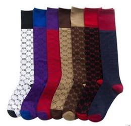 lojas grossistas para mulheres Desconto 10 pares / lote Meia calça 7 cores G meias para as mulheres de alta qualidade meias de algodão skate hip hop esporte meias de Malha mulheres atacado