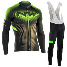 2019 kit de ciclo profesional SPTGRVO Lairschdan 2019 Green NW Ropa de ciclismo de manga larga Kit de primavera / otoño Mtb Bike Jersey Set Pro Mountain Mountain Bicycle Clothes kit de ciclo profesional baratos