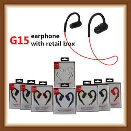 3,5 mm mikrofonverdrahtung Rabatt 2019 G15 Bass Sport Headset Universal-Bluetooth-Kopfhörer wasserdichte Kopfhörer Stereo Hörmuscheln Earbuds G5 Marke Leistung 3 mit Mic DHL frei