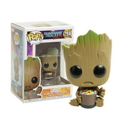 candy toy doll Promo Codes - FUNKO POP Guardians of the Galaxy Candy Groot Vinyl Doll Marvel Action Figures Collection Model Car Decoration Figure Toys Gift