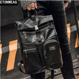 Zaino multi compartimento online-borsa degli uomini di marca degli uomini di alta qualità borsa degli uomini zaino in pelle multi-funzionale borsa da viaggio per il tempo libero in pelle per il tempo libero