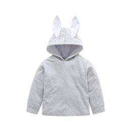 Argentina New Toddler Kid Baby Girl Ears Hoodie Coat Conejo Bunny Pullover Solid Coat Gris Chaqueta Outwear Snowsuit ropa Suministro