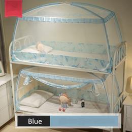 1 Peça 0.9 m Mosquiteiro Para Dormitório Estudantes Beliche Crianças Pequenas Cama Mongol Yurt Mosquito Net Com Rendas Decor 3 Cores de Fornecedores de rede de mosquiteiro quadrado