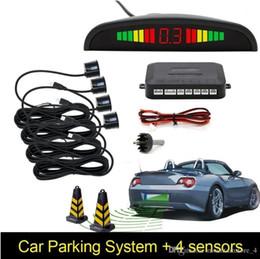 Carro Auto Parktronic LED Sensor de Estacionamento Com 4 Sensores Reversa Backup Car Estacionamento Radar Monitor Detector Sistema Backlight Display (Varejo) de Fornecedores de controles remotos keyless por atacado